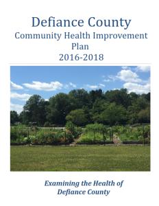 Defiance County Community Health Improvement Plan 2016-2018